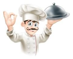 Gourmet chef illustration